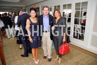 Angie Goff, Ed Henry, Susan Mercandetti, McLaughlin/Reuters Brunch at the Hay-Adams, May 1, 2011, Kyle Samperton