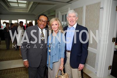Clarence Page, Morgan Fairchild, Bob Hormats, McLaughlin/Reuters Brunch at the Hay-Adams, May 1, 2011, Kyle Samperton