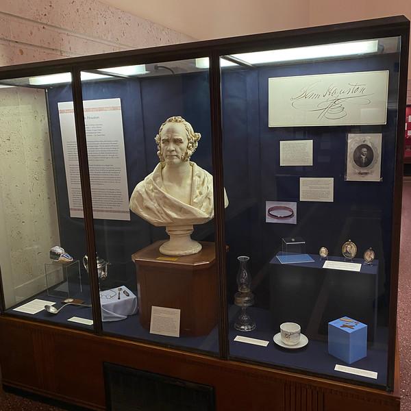 Sam Houston case, exhibit gallery