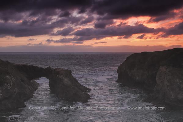 Mendocino Arch Sunset