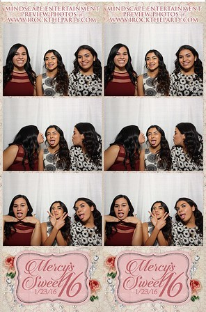 Mercy's Sweet 16 - Photo Booth Pictures