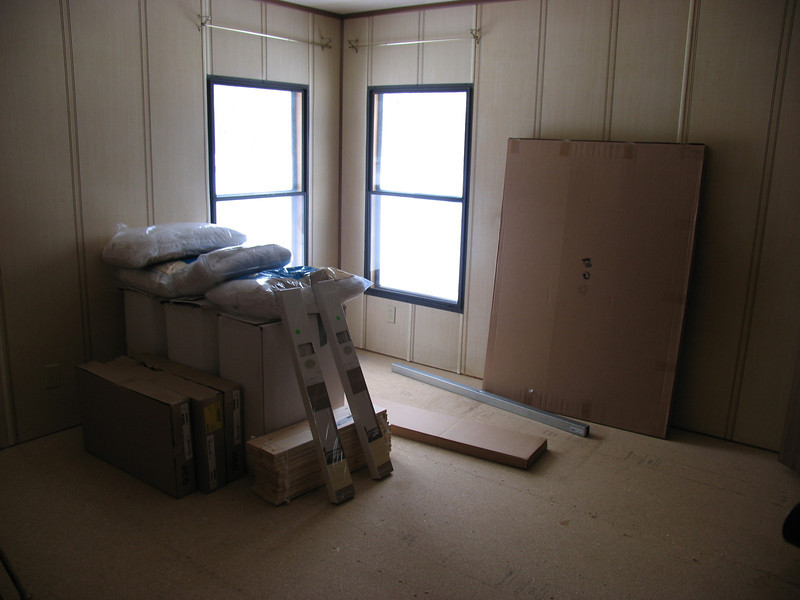 """Before"" picture of master bedroom - March 2005"