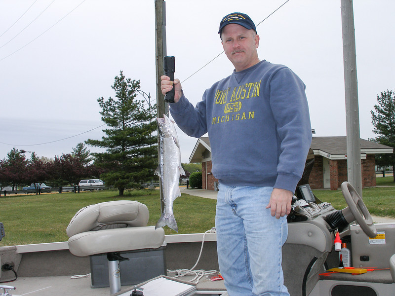 2 lb. 10 oz. Steelhead caught out of Port Austin - May 2009