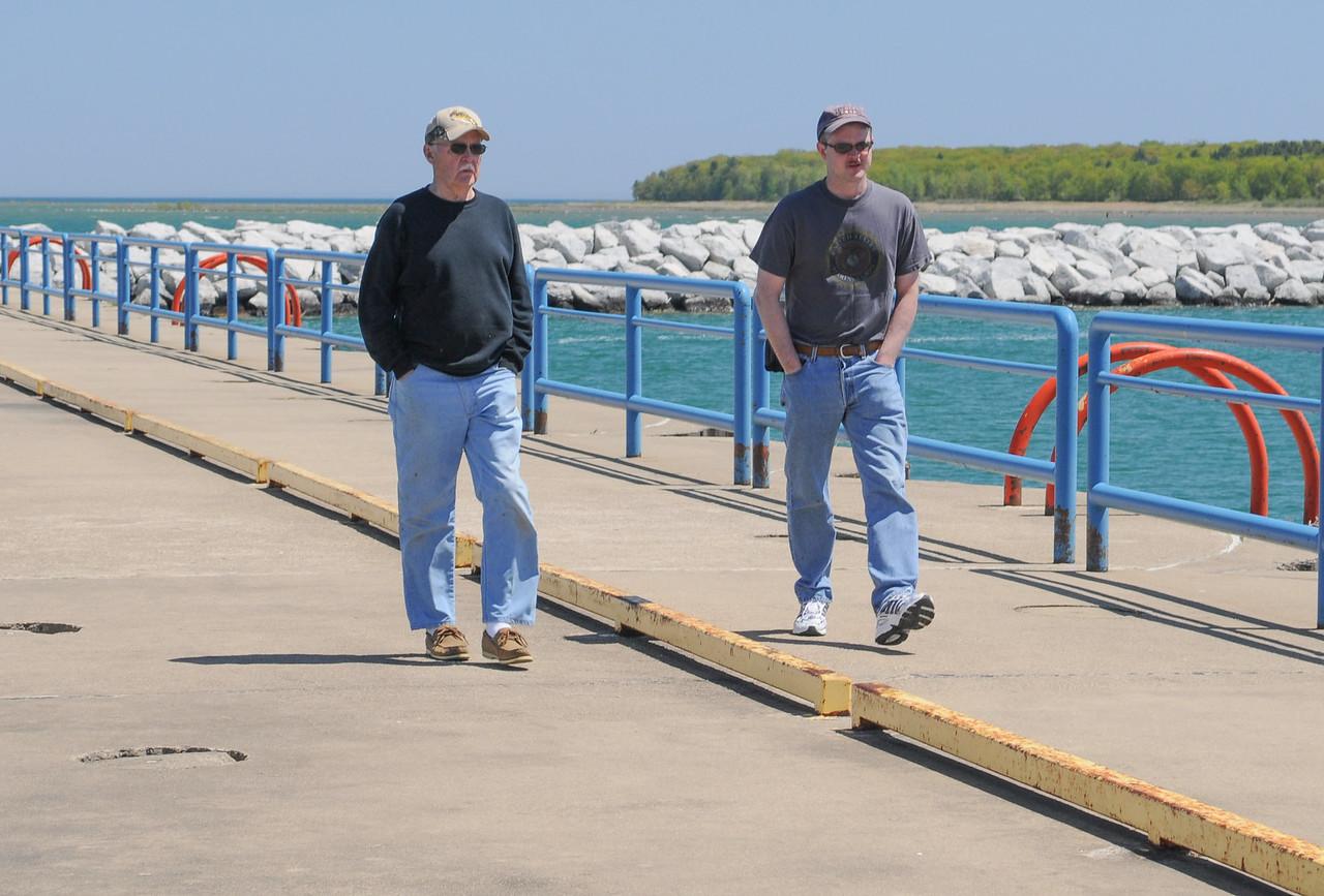 Dad & Eric on Breakwall - May 2008