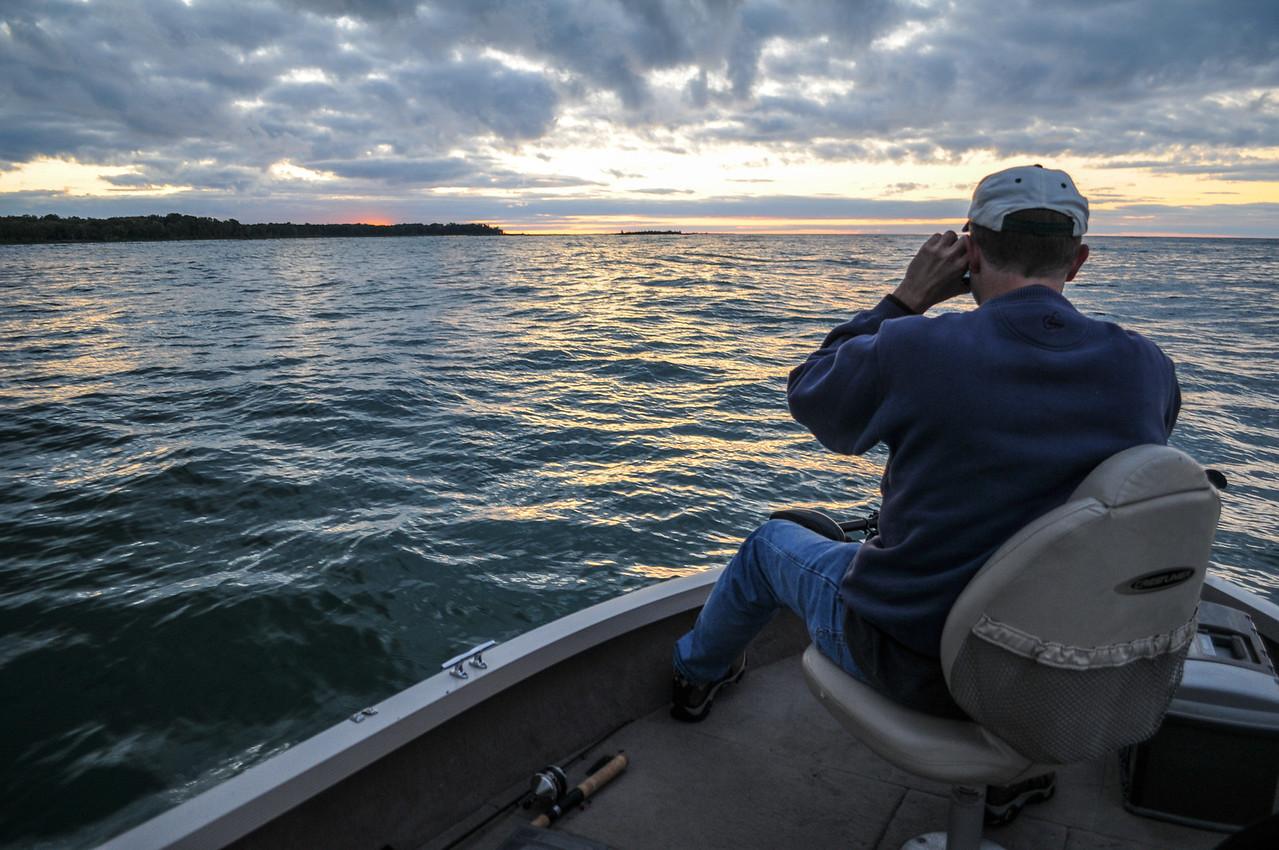 Eric shooting Gull Island - September 2008