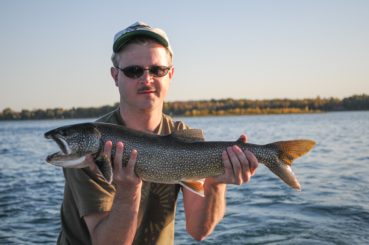Eric with Splake caught off the Points - October 2008