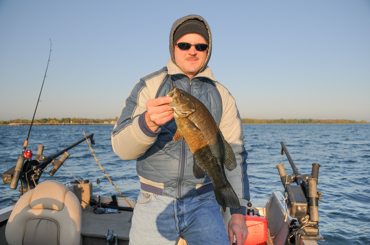Eric with nice Smallmouth Bass - October 2008