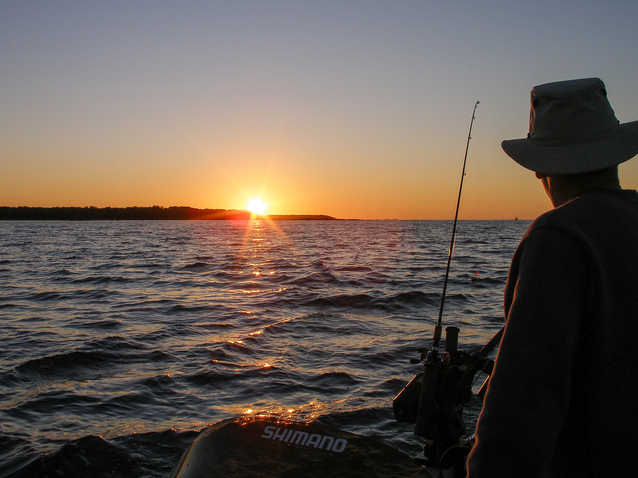 Sunset over Gull Island - Photo taken by Eric - October 2008