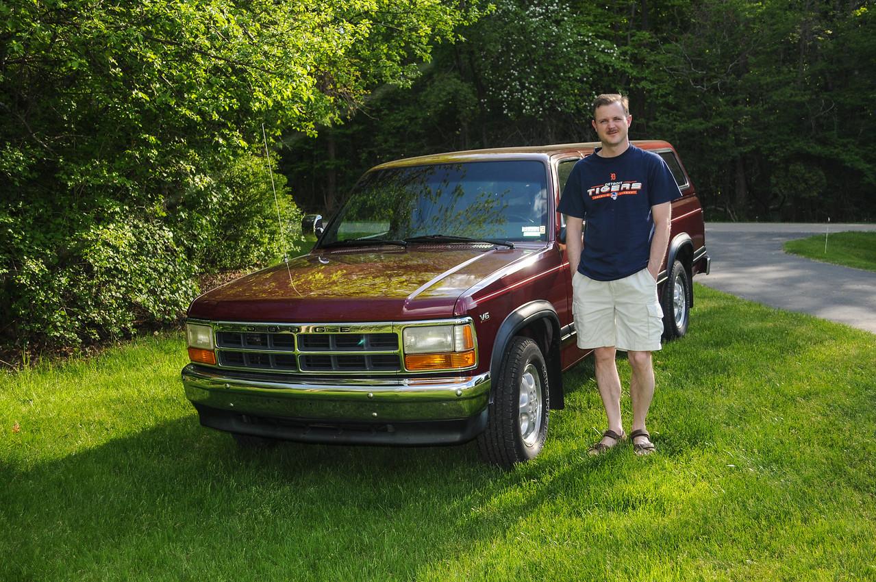 Eric with his Dodge Dakota - May 2008