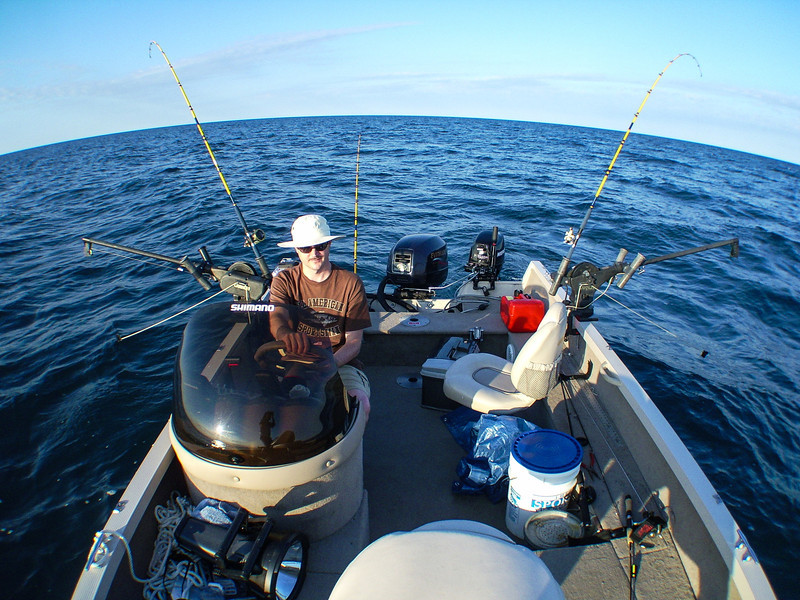 Wide angle view of trolling setup - September 2007