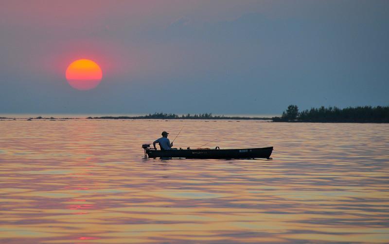 Lone Fisherman near Eagle Bay - May 2010