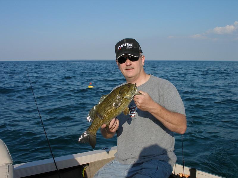 Smallmouth Bass near Gull Island - May 2010