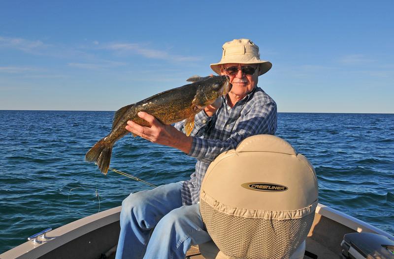 Dad with a 4 lb., 4 oz. Walleye - June 2010