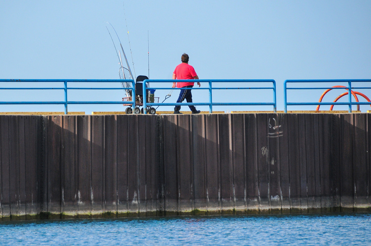 Port Austin Breakwall Fisherman - October 2010
