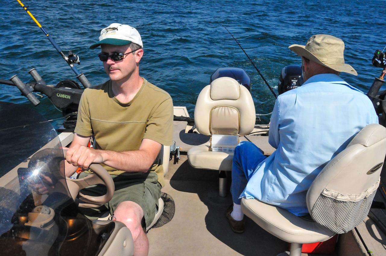 Trolling on Lake Huron - July 2011
