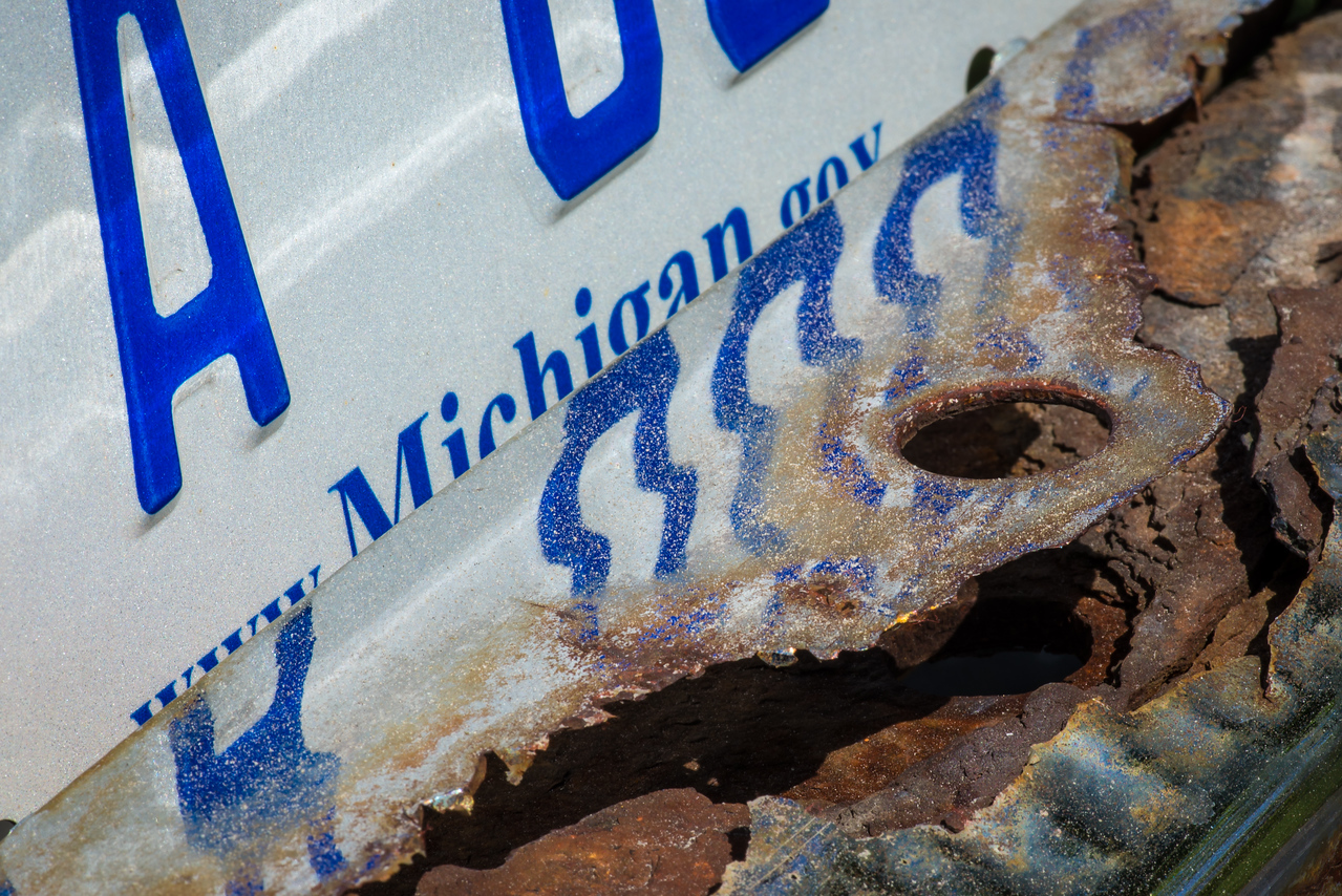 The art of a decaying chrome bumper!  May 2013