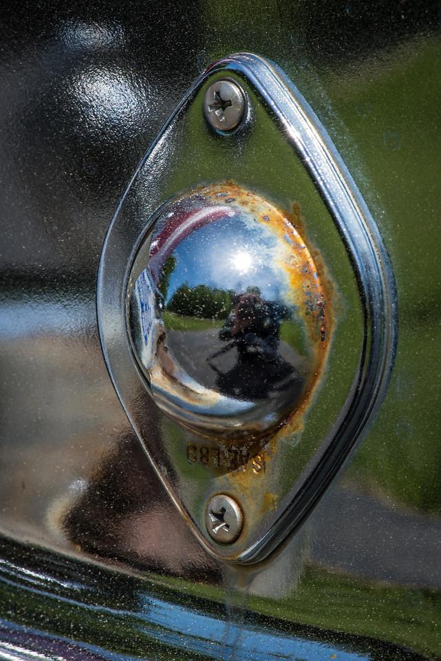 Macro shot of decaying chrome bumper - May 2013