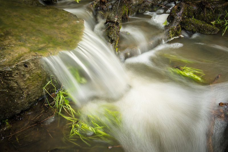 Long exposure of water runoff Near Pt. Aux Barques Lighthouse - May 2013