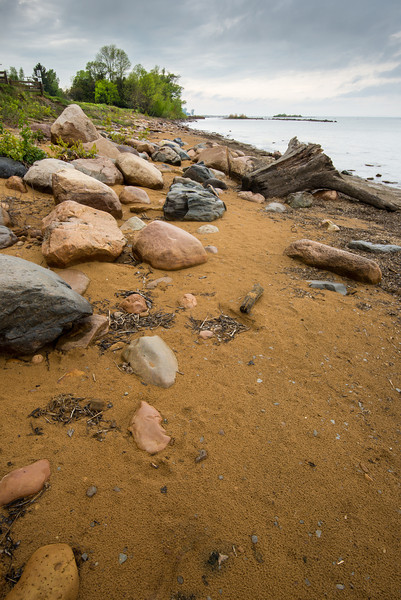 Shoreline near Pt. Aux Barques Lighthouse - May 2013