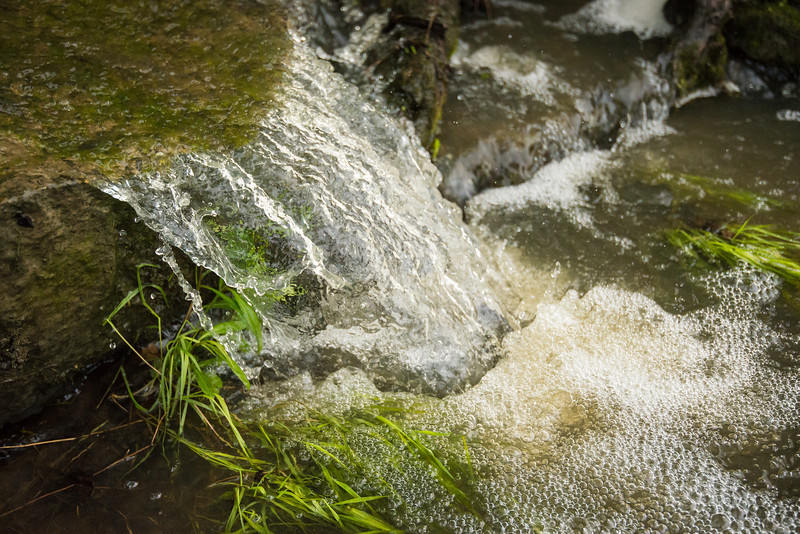 Fast exposure of water runoff Near Pt. Aux Barques Lighthouse - May 2013