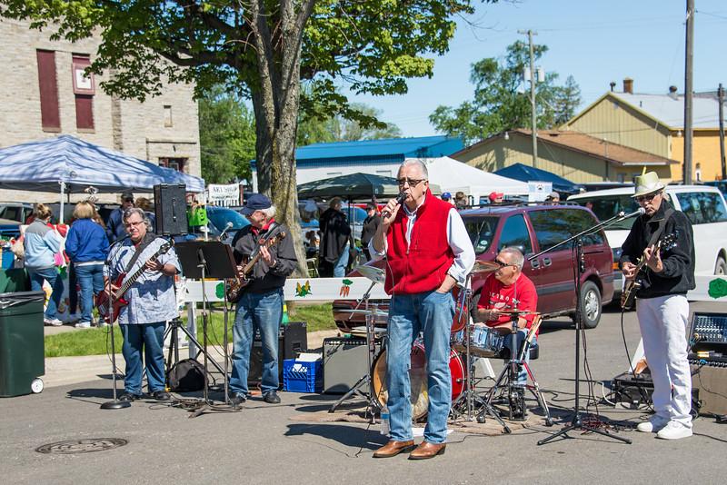 The Spring Street Boys at Port Austin Farmer's Market - May 2013