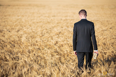 Called To Serve I was able to get back to this same field with another prospective missionary before the field was cut. I thought this theme was great and happy I could photo an elder there as well.