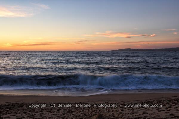 Monastery Beach Sunset Waves Breaking