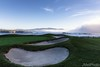 Sculpted Bunkers at the 16th Hole and Rolling Fog