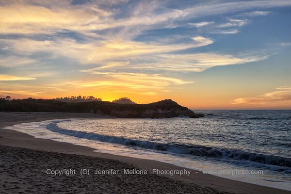 Monastery Beach toward Point Lobos at Sunset