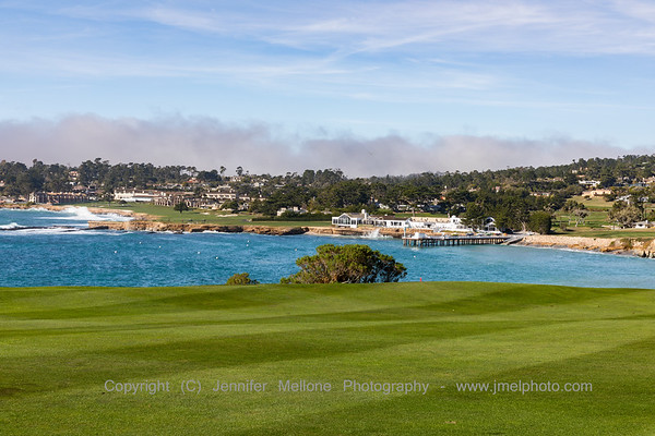 Heading Up to Hole 6 - View of Pebble Beach Resort