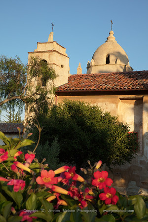 Carmel Mission - Sunset - Vertical