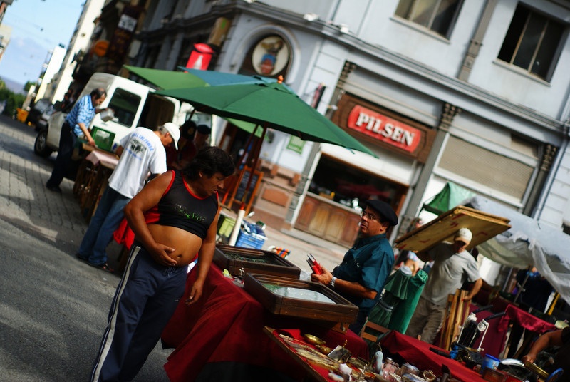 "A man strolling through the market with his belly exposed - Montevideo, Uruguay.  This is a travel photo from Montevideo, Uruguay. <a href=""http://nomadicsamuel.com"">http://nomadicsamuel.com</a>"