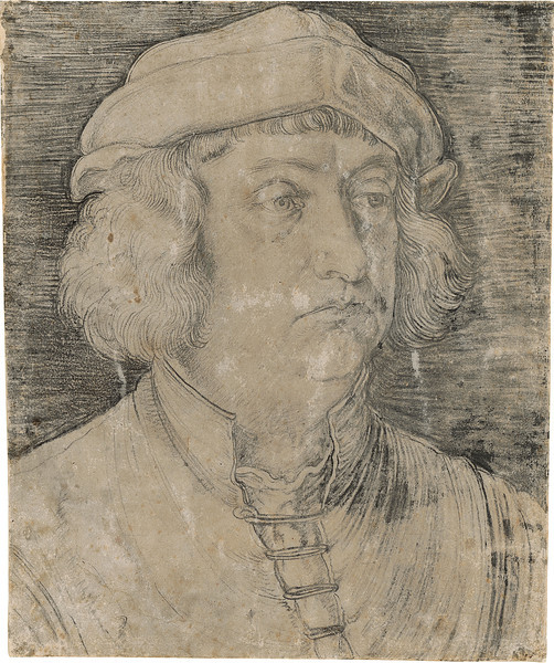 Albrecht Dürer (1471–1528)<br /> Portrait of Kaspar Nützel, 1517 <br /> <br /> Dürer, the most important artist of the German Renaissance, returned to large-format portraiture in 1514 after an absence of more than ten years. This striking portrait of Kaspar Nützel, the artist's friend and an important Nuremberg diplomat, has a storied provenance; once part of Paulus Praun's celebrated collection of some ten thousand objects, the drawing was likely purchased by Crown Prince Ludwig, who later became King Ludwig I of Bavaria, in 1809.