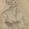 Matthias Grünewald (ca. 1470/80–1528)<br /> Study of a Woman with Her Head Raised in Prayer<br /> <br /> Few drawings by Grünewald survive, but those that do exhibit the haunting quality associated with his work that impressed twentieth-century artists as diverse as Otto Dix and Francis Bacon. This study and another on the reverse of the same sheet have been connected with the figures of the Virgin Mary and Mary Magdalene on the crucifixion panel of the artist's Isenheim Altarpiece.