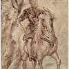 Peter Paul Rubens (1577–1640)<br /> Study for the Equestrian Portrait of the Duke of Lerma, 1603<br /> <br /> Rubens was just beginning his career when he completed this study for a larger-than-life equestrian portrait of the Duke of Lerma, commander-in-chief of the Spanish cavalry. The artist invested significant time and effort in perfecting the details of this, his largest known drawing, which is vividly worked with pen and brush. The resulting dynamic new approach to equestrian portraits would soon inspire imitations by the artist's many followers.