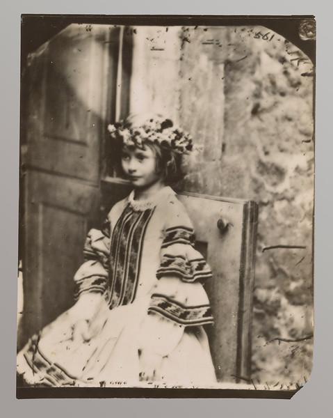 Dodgson, Charles Lutwidge, 1832-1898   Alice Pleasance Liddell, wreathed, facing left  1860. AAH 657