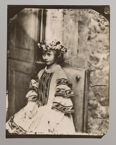 Dodgson, Charles Lutwidge, 1832-1898   Alice Pleasance Liddell, wreathed, facing left  1860. AAH 657
