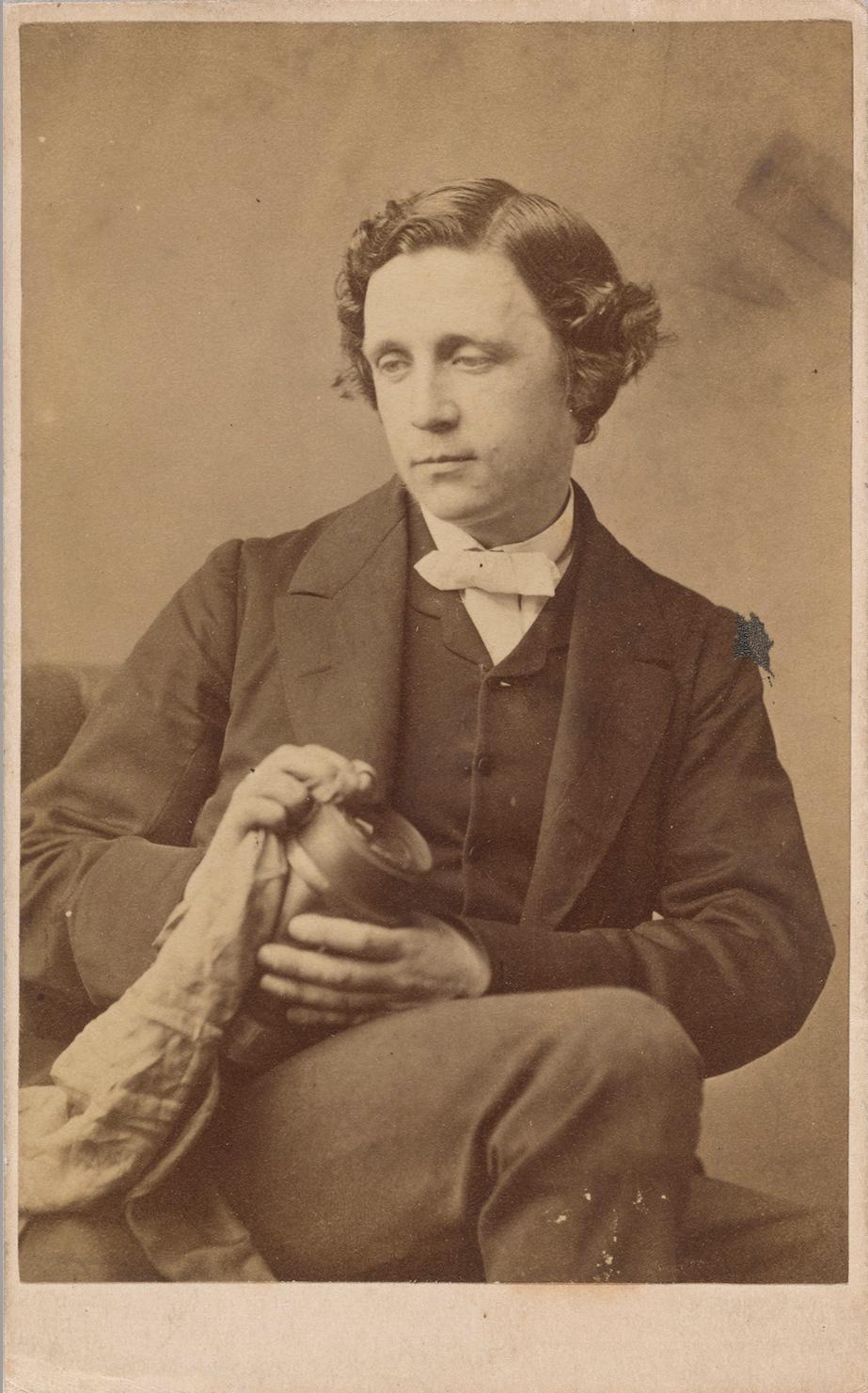 Rejlander, O. G. (Oscar Gustav), 1813-1875   Carte de visite photograph of Lewis Carroll with lens  [1863] AAH 220