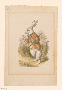 Tenniel, John, 1820-1914, White Rabbit [print], 19th century.1 print, 2005.191