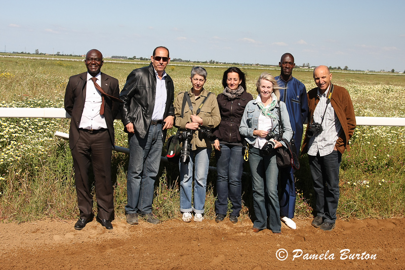 Press Corps and Senegal contingent- with farm manager, Said M'haud