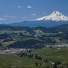 Mt. Hood seen from over Hood River, Oregon