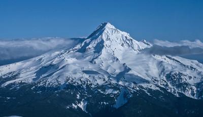 Aerial view of Mt Hood