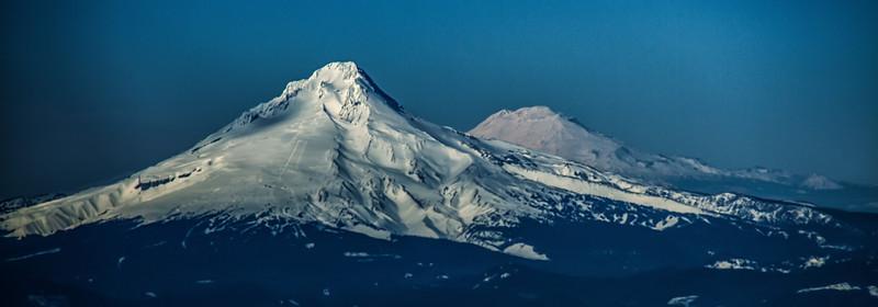 Mt Hood and Mt Adams