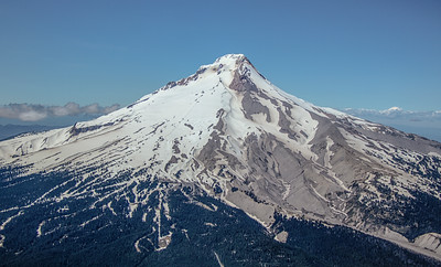 Flying around Mt.  Hood offers changing views.