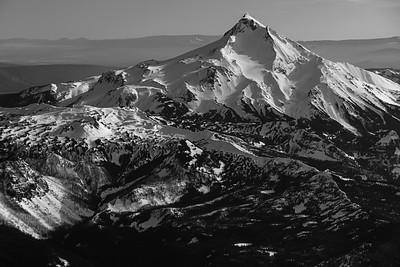 Mt. Jefferson in Black and White