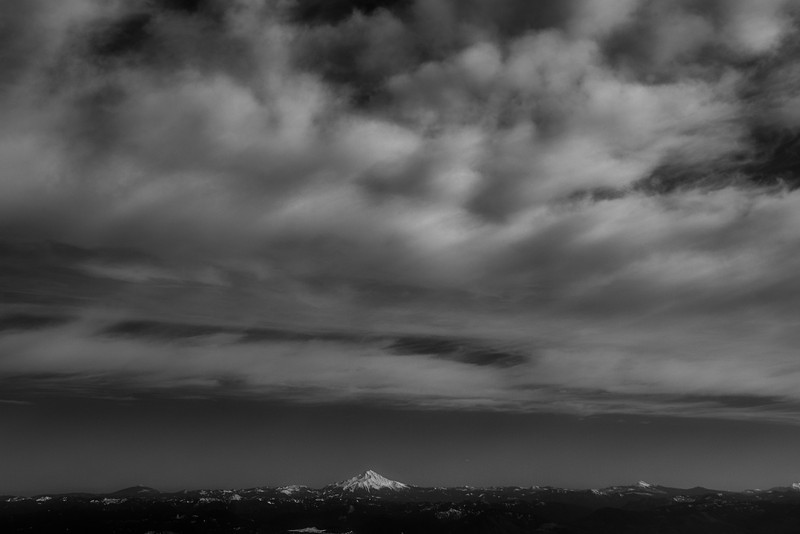 Mt Jefferson in wide angle view