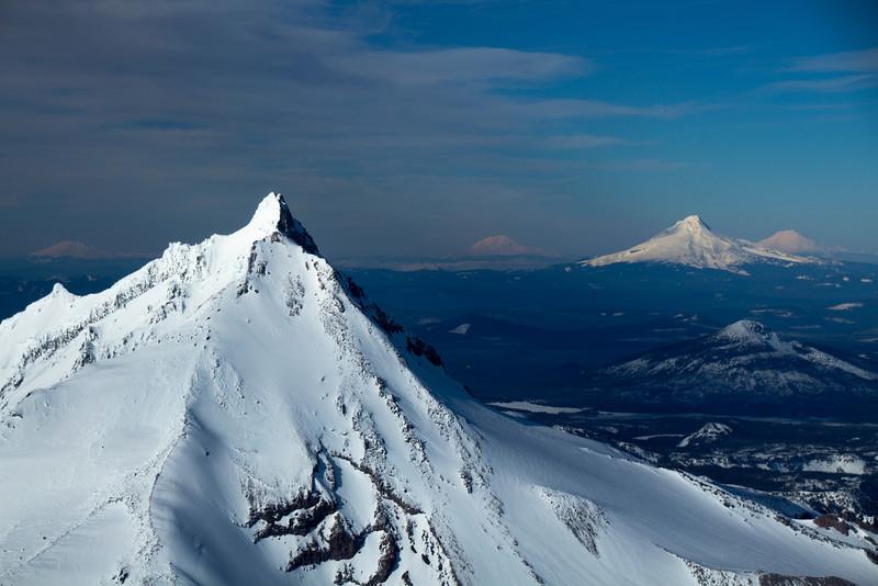 Five Peaks in Oregon Cascades