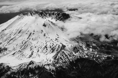 Mt. St. Helens in B&W