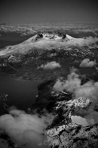 Mt. St. Helens, B&W