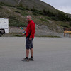 Throwing the boomerang on top of Cottonwood Pass.